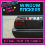 I LOVE HEART MY RABBIT FUNNY CAR WINDOW VINYL STICKER DECAL GRAPHICS